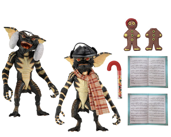 "NECA Gremlins – 7"" Scale Action Figure – Christmas Carol Winter Scene 2 Pack"