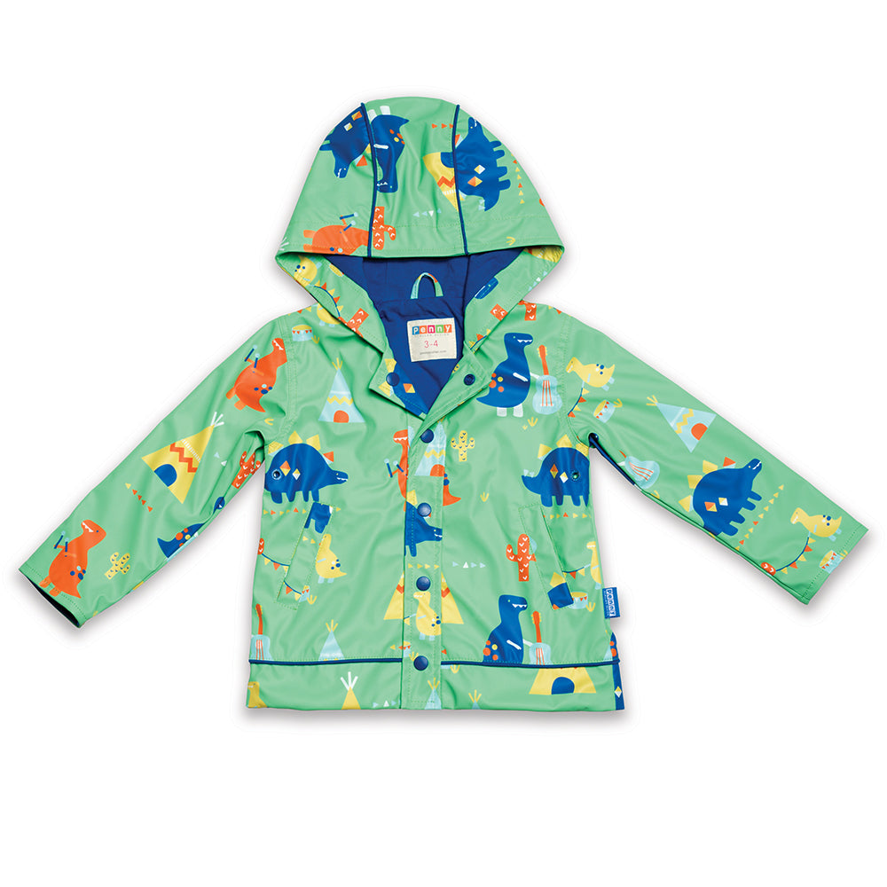Penny Scallan Raincoat - Dino Rock-Out And About - Raincoat & Umbrella-Penny Scallan | Baby Little Planet