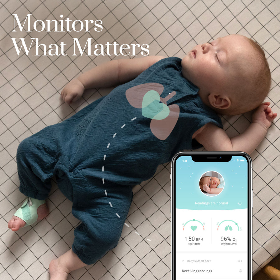 Owlet Smart Sock 3 Baby Monitor-House Safety - Baby Monitors-Baby Little Planet Hoppers Crossing