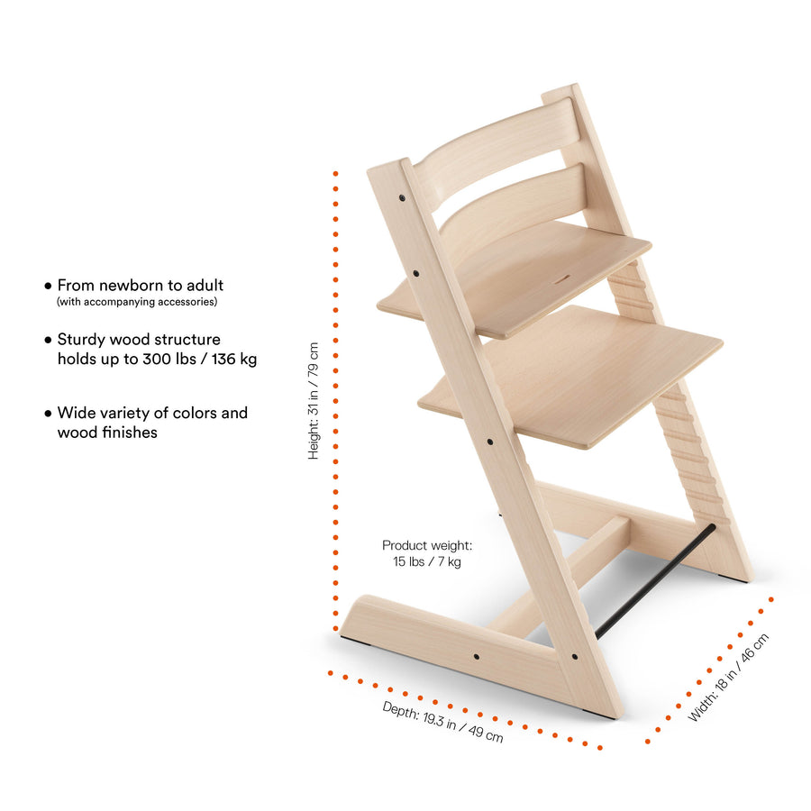 Stokke Tripp Trapp High Chair - Natural-Feeding - Highchairs-Stokke | Baby Little Planet