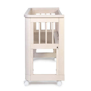 Troll Sun Bedside Bassinet with bassinet mattress-Nursery Furniture - Cots-Baby Little Planet Hoppers Crossing
