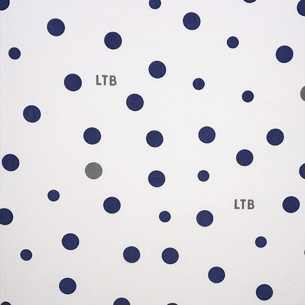 Stretch Cotton Jersey Wrap - Navy and Grey spots-Little Turtle Baby-Baby Little Planet Hoppers Crossing