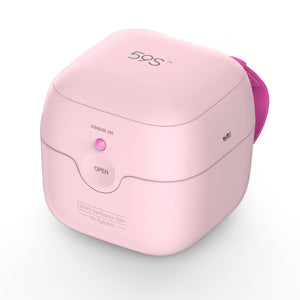 59S Mini Sterilizer box S6 for baby pacifier - Pink-Feeding - Sterilisers-59s | Baby Little Planet