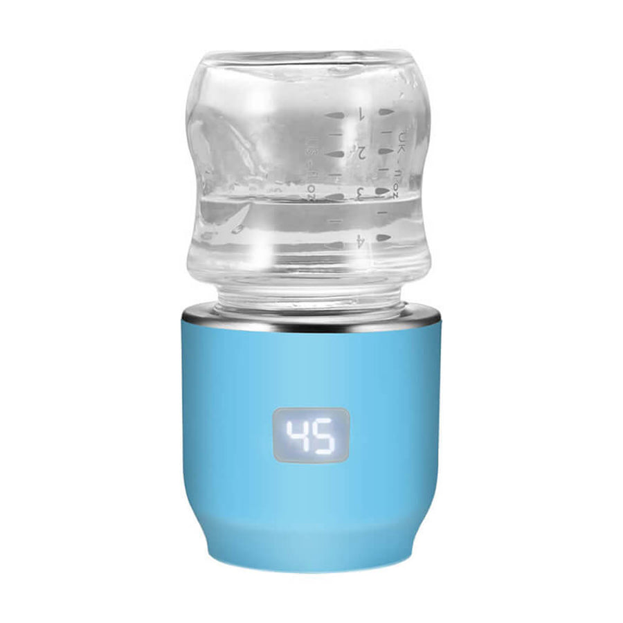 JIFFI PORTABLE BABY BOTTLE WARMER BLUE-Feeding - Steamers & Warmers-Jiffi | Baby Little Planet