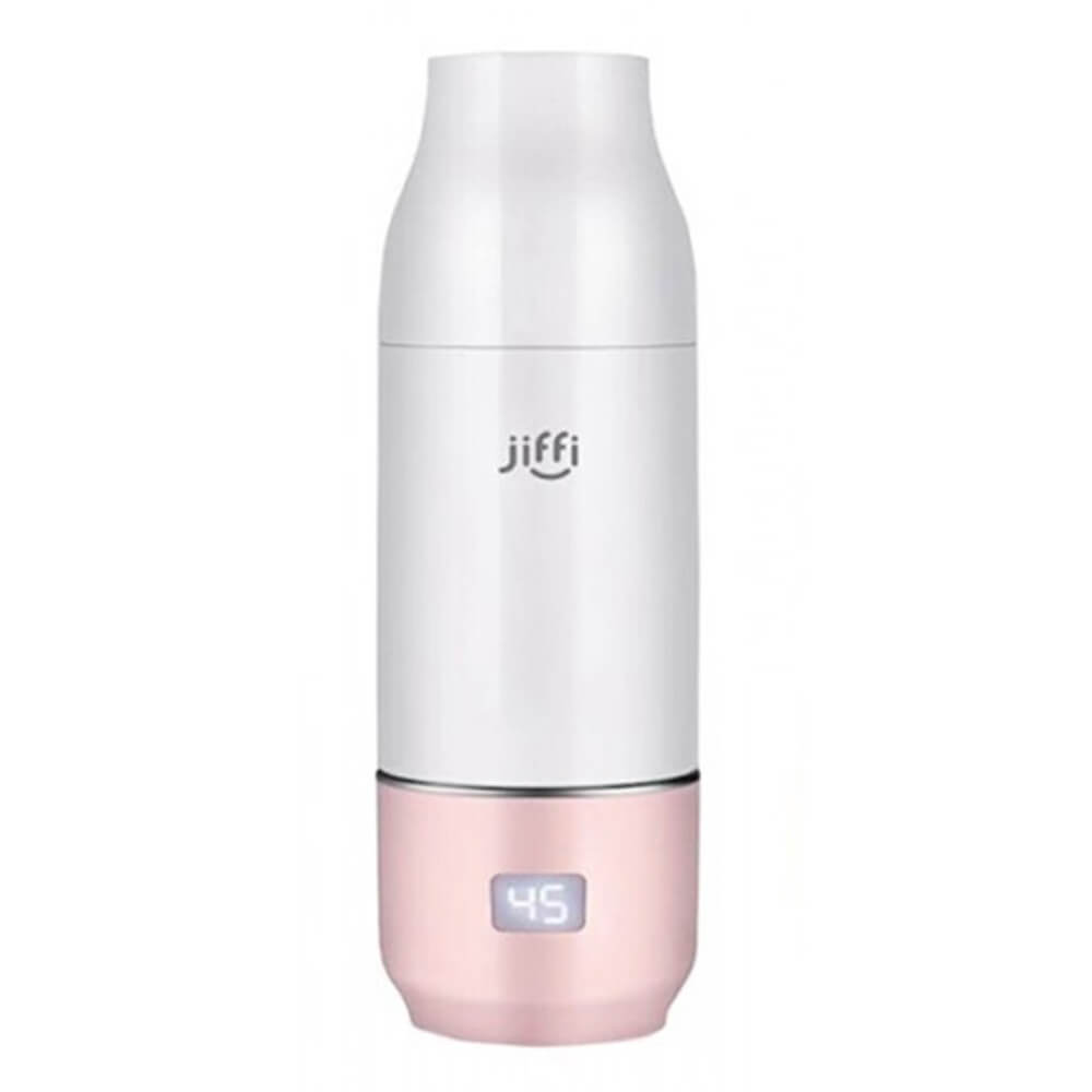 JIFFI PORTABLE BABY BOTTLE WARMER PINK-Feeding - Steamers & Warmers-Jiffi | Baby Little Planet