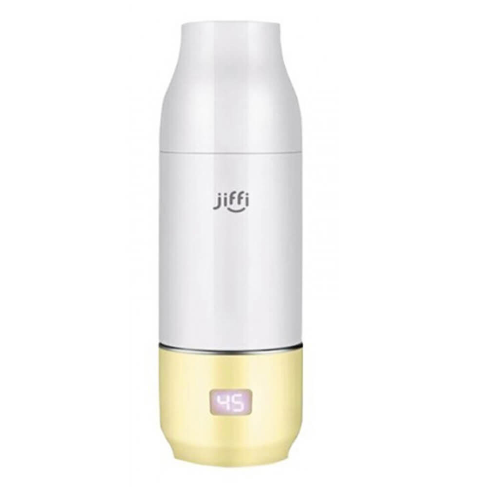 JIFFI PORTABLE BABY BOTTLE WARMER YELLOW-Feeding - Steamers & Warmers-Jiffi | Baby Little Planet