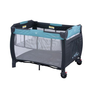 Steelcraft Siesta 2 in 1 Porta Cot - Blue Leaves-Steelcraft-Baby Little Planet Hoppers Crossing
