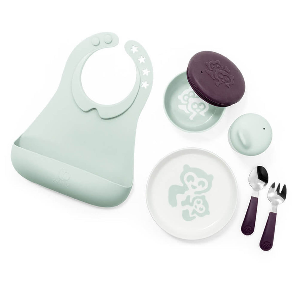 Stokke Munch Complet set-Feeding - Cutlery-Baby Little Planet Hoppers Crossing
