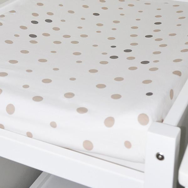 Little Turtle Baby Change Mat Cover Beige & Grey Spot-Nursery Furniture - Change Mats-Little Turtle Baby | Baby Little Planet