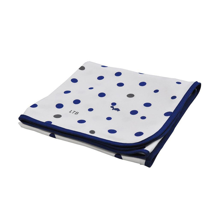 Stretch Cotton Jersey Wrap - Navy and Grey spots-Bedtime - Swaddles and Wraps-Little Turtle Baby | Baby Little Planet