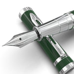 Erudite Fountain Pen – Racing Green Chrome Trim
