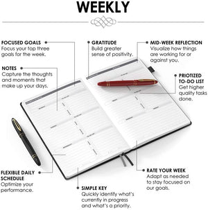 Horizontal Weekly Planner – Sky Blue