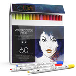 Professional Watercolor Dual Tip Brush and Chisel Pens