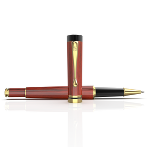 Crest Rollerball - Rosewood Lacquer Gold Trim