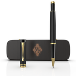 Crest Rollerball - Blackwood Lacquer Gold Trim
