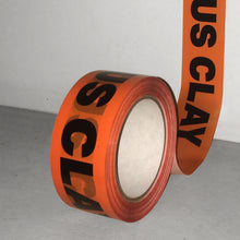 "Custom Cautious Clay ""Caution"" Tape"