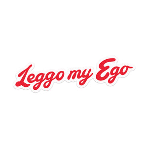 """Leggo my Ego"" Sticker"