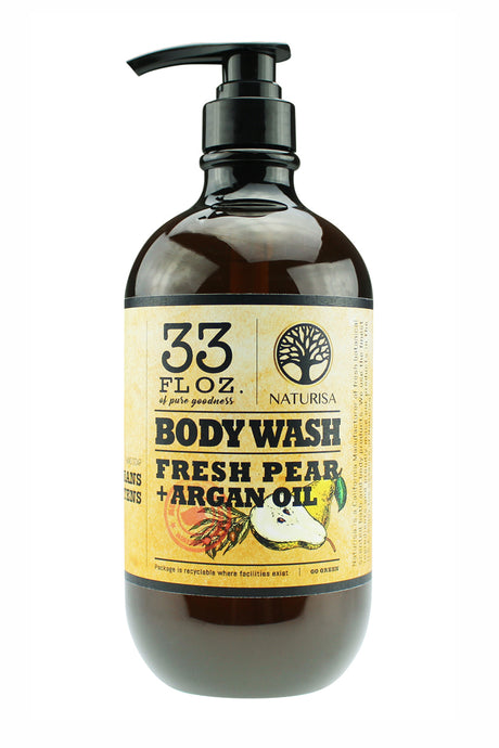 BODY WASH with Argan Oil. 33oz - Fresh Pear