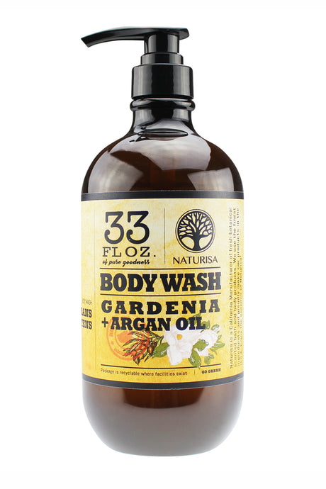 BODY WASH with Argan Oil. 33oz - Gardenia