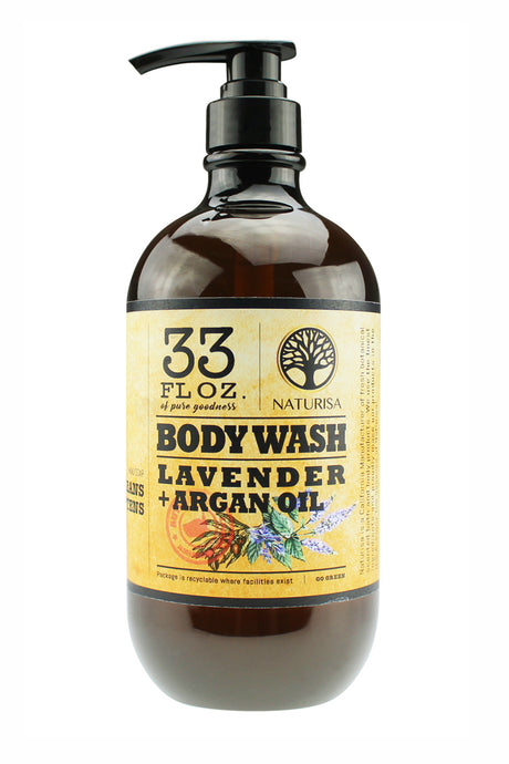 BODY WASH with Argan Oil. 33oz - Lavender