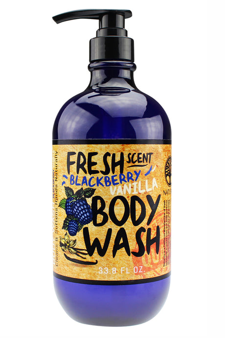 FRESH SCENT BODY WASH. 33oz - Blackberry Vanilla