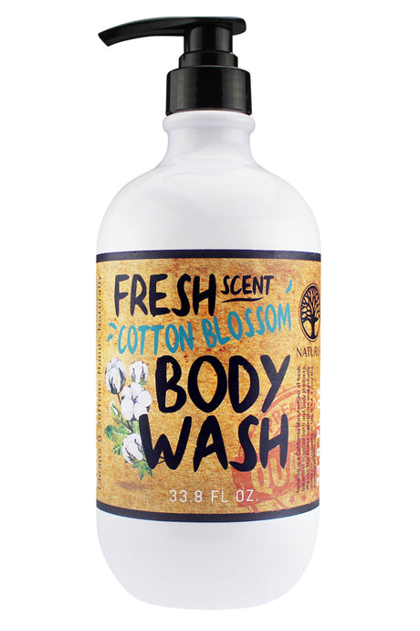 FRESH SCENT BODY WASH. 33oz - Cotton Blossom