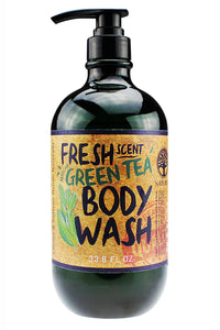 FRESH SCENT BODY WASH. 33oz - Green Tea