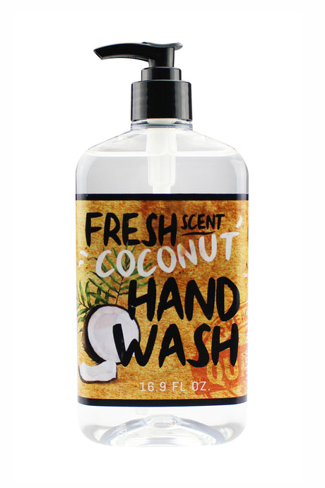 FRESH SCENT HAND WASH. 16.9 oz - Coconut