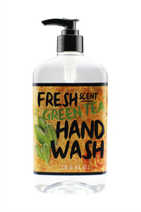 FRESH SCENT HAND WASH. 16.9 oz - Green Tea