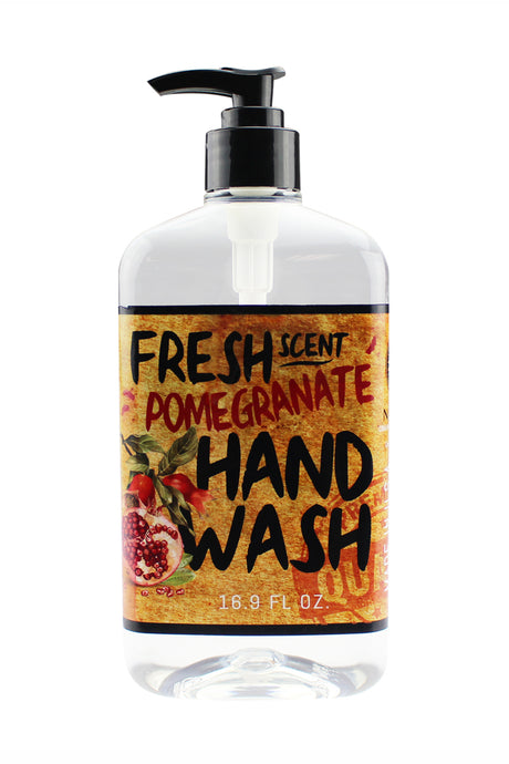 FRESH SCENT HAND WASH. 16.9 oz - Pomegranate