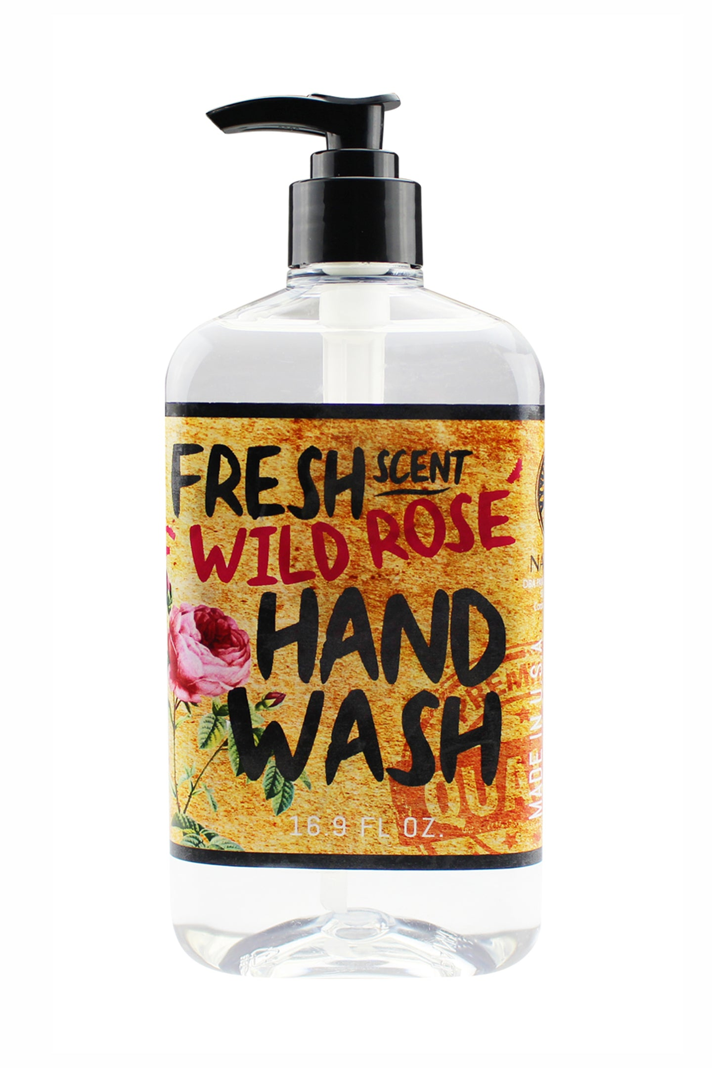 FRESH SCENT HAND WASH. 16.9 oz - Wild Rose