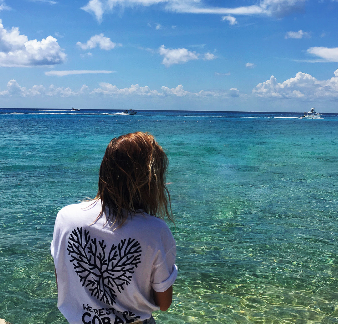 coral heart white tee humans4reefs