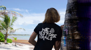 we restore corals black tee humans4reefs