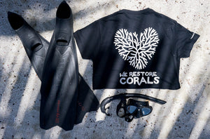 coral heart black tee humans4reefs