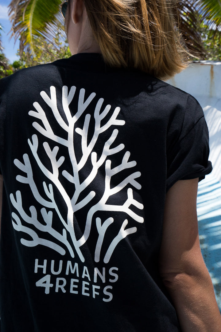 H4R black tee humans4reefs