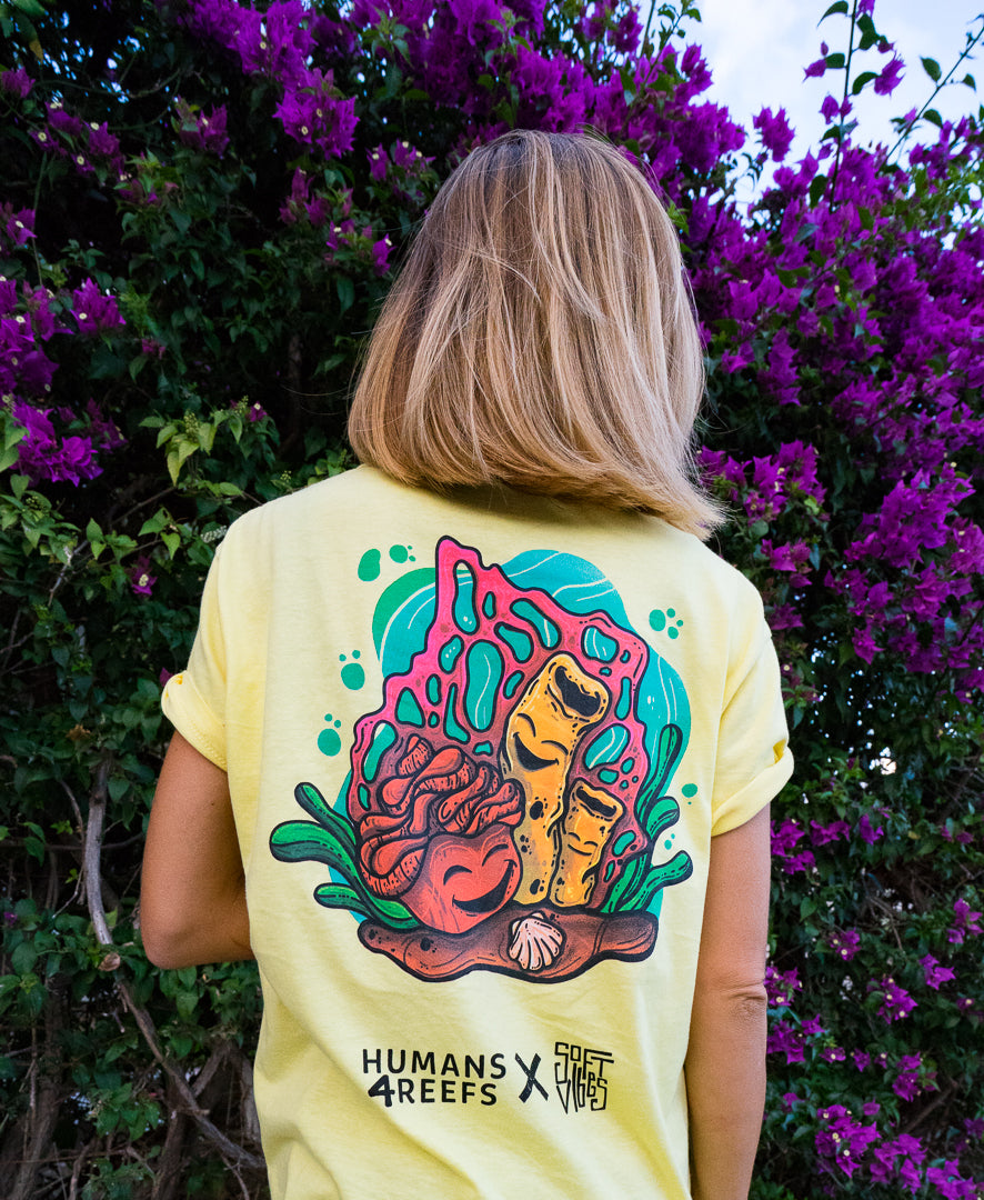 soft vibes X humans 4 reefs tee