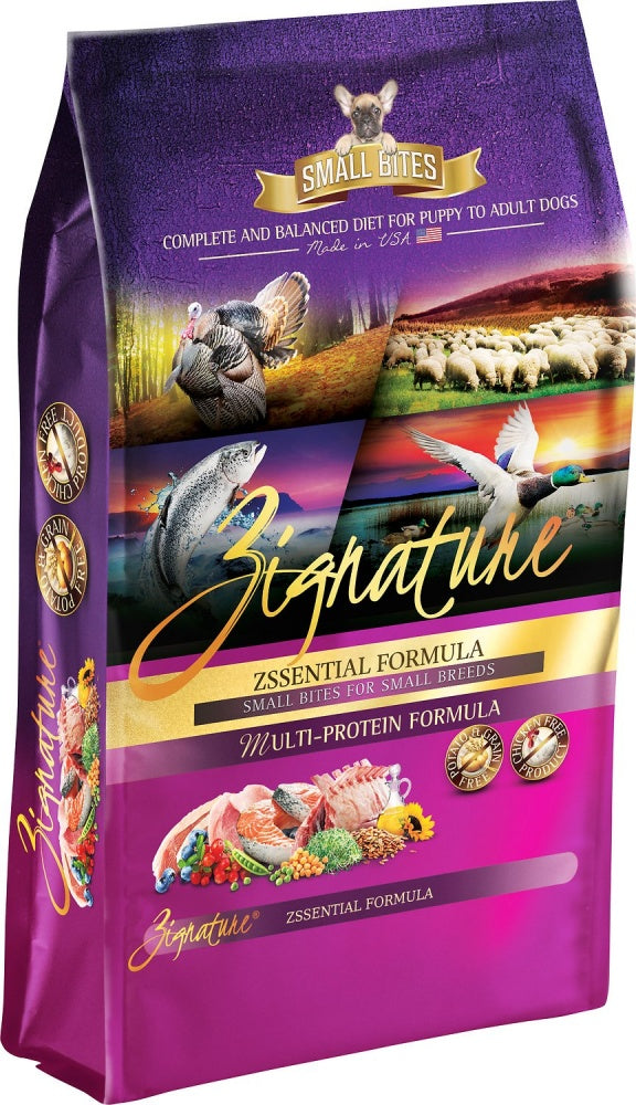 Zignature Small Bites Grain Free Zssential Formula Dry Dog Food
