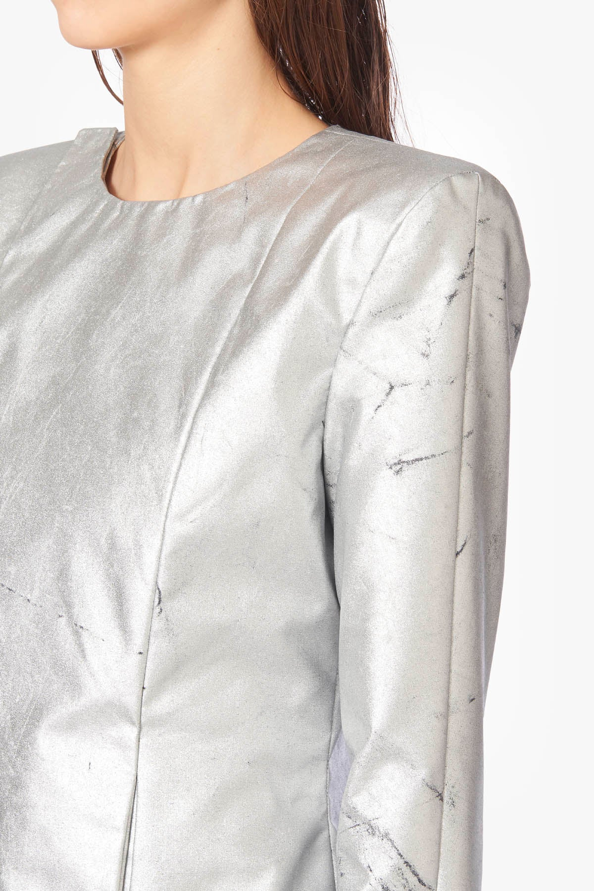 Silver Symmetric Denim Jacket