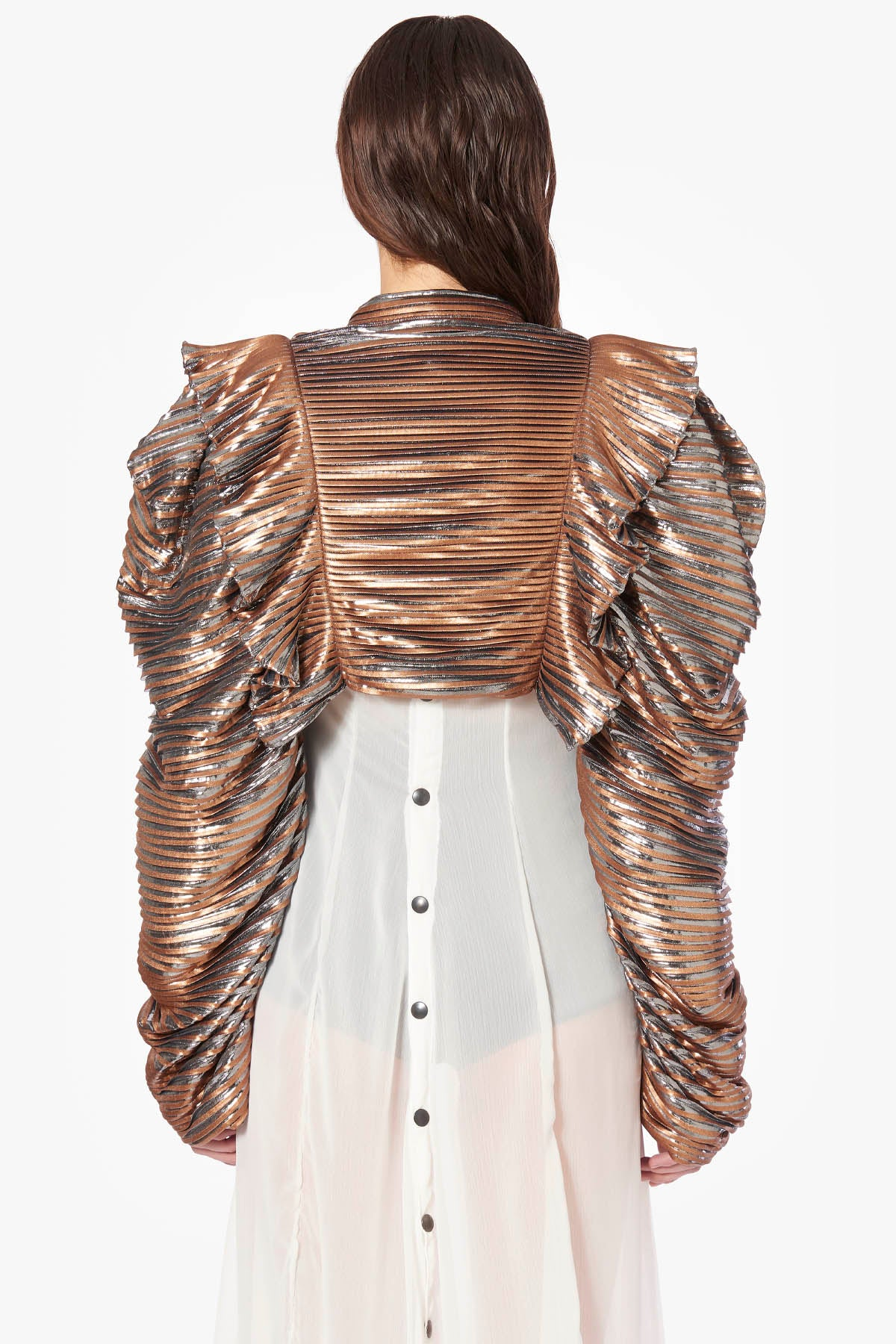 Plissé Gold Jacket