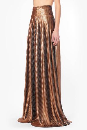 Plissé Gold Wide Pants