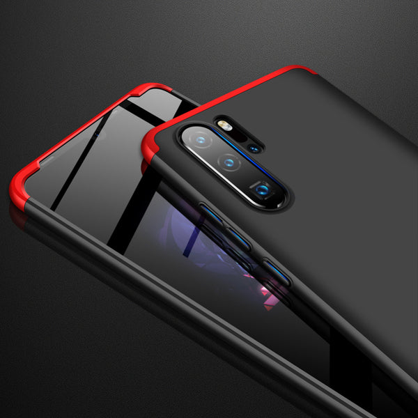 3 in 1 Double Dip 360°Full Cover Protection Hard PC Protective Case For Huawei P30 Pro/P30 Lite/P30