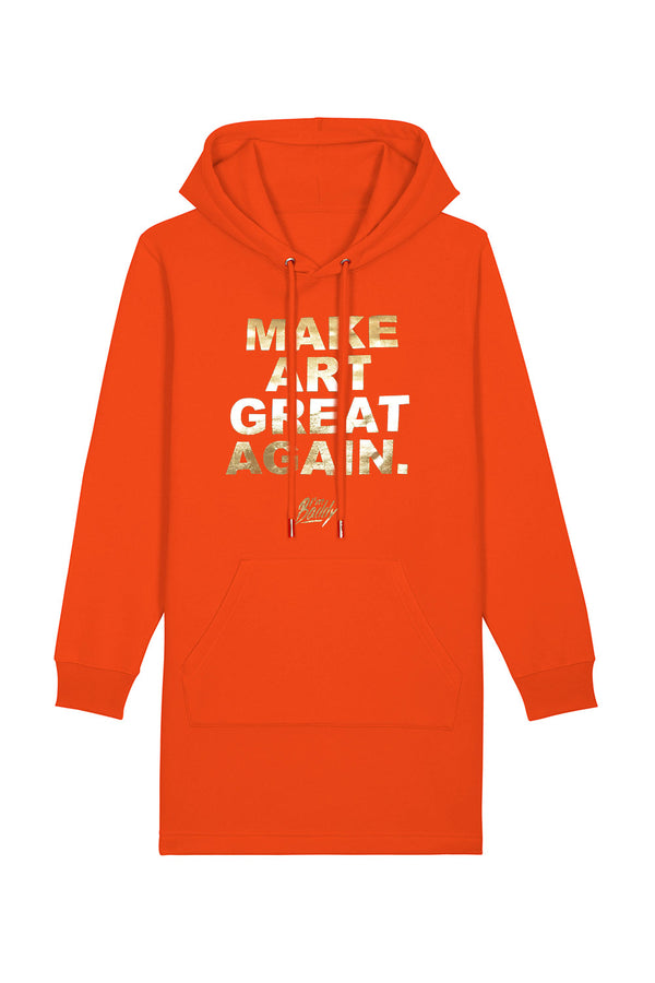 Make Art Great Again tangerine gold hoodie dress