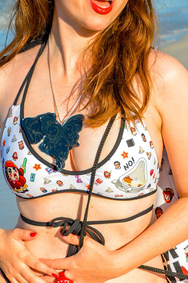 Art World Bikini Top (Reversible)