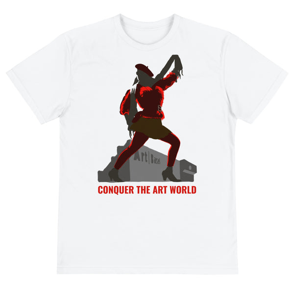 Conquer The Art World Slogan t-shirt