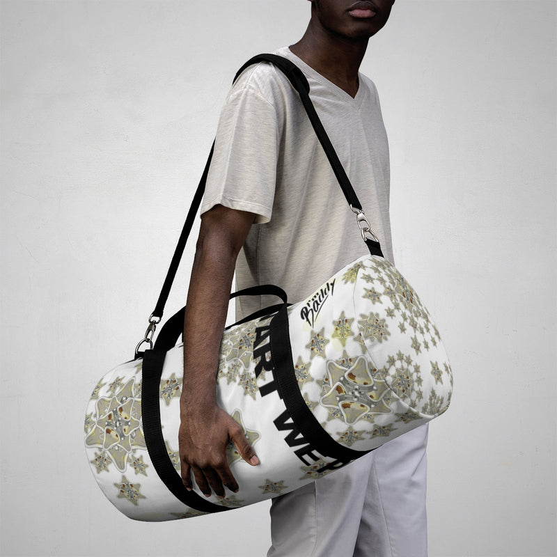 In Art We Pee Snowflake Duffle Bag