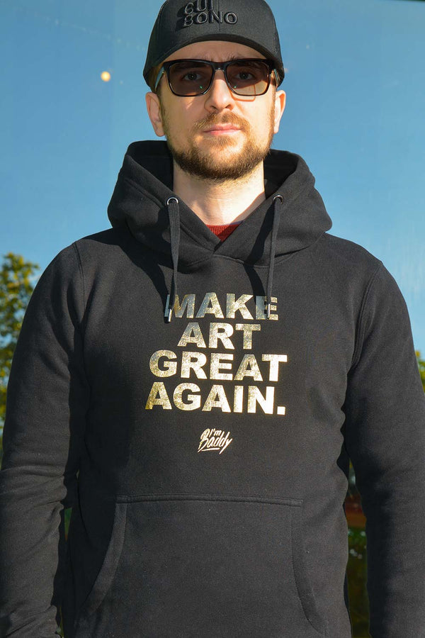 Make Art Great Again black gold hoodie