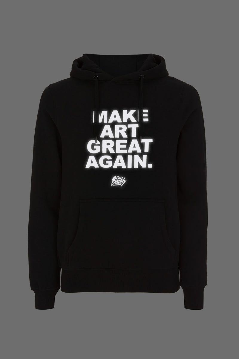 Make Art Great Again black hi-vis hoodie