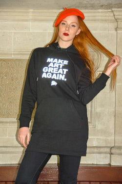Make Art Great Again black hoodie dress