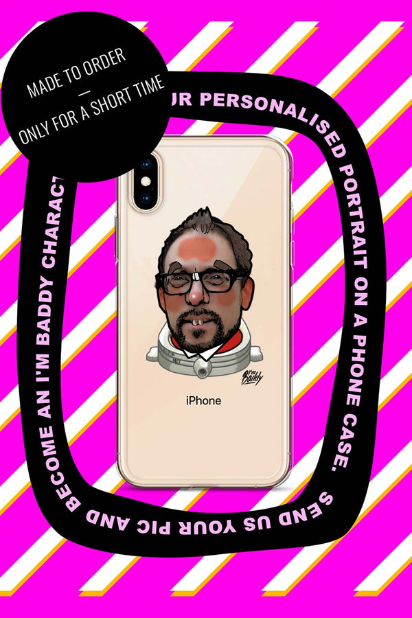 iPhone Case with personalised comic style portrait