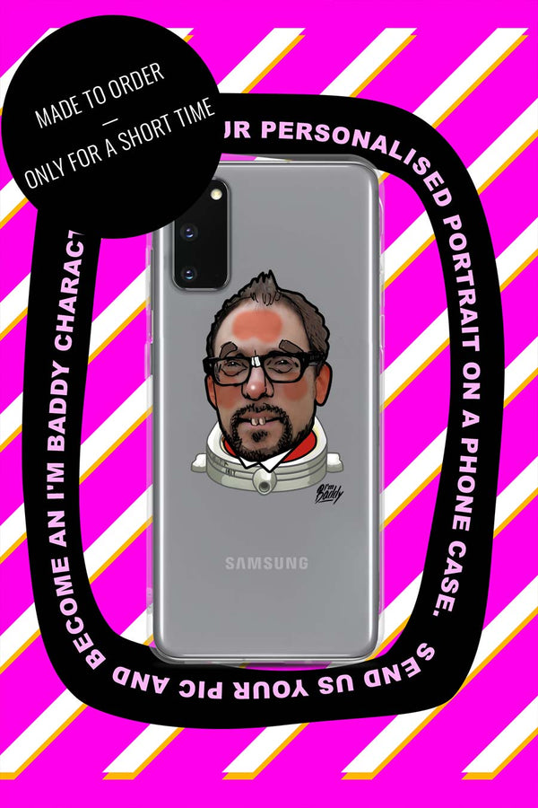 Samsung Case with personalised comic style portrait
